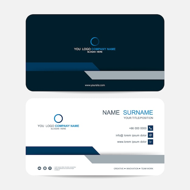 Business card vector background Premium Vector