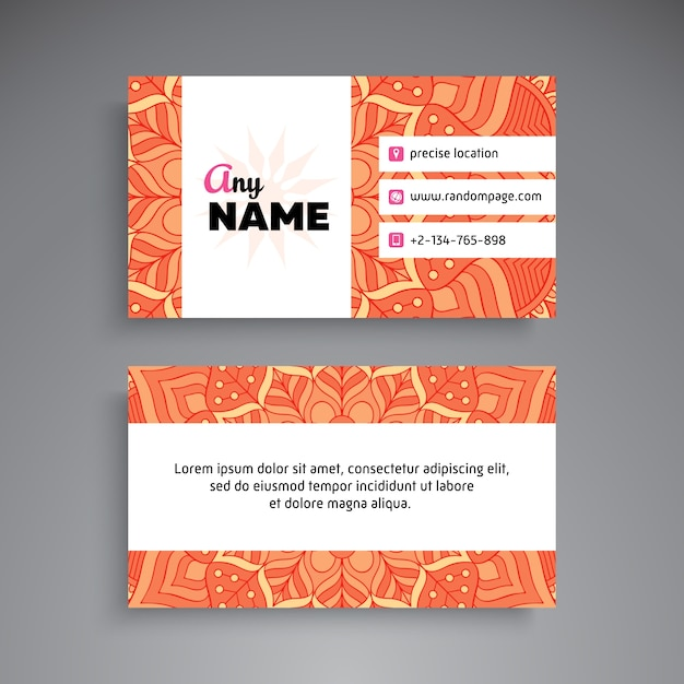 Business Card Invitations Colorful Edge Painting Business – Business Card Invitations