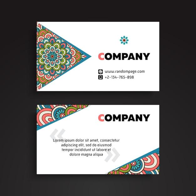 Business card vintage decorative elements ornamental floral business card vintage decorative elements ornamental floral business cards or invitation with mandala free reheart Choice Image