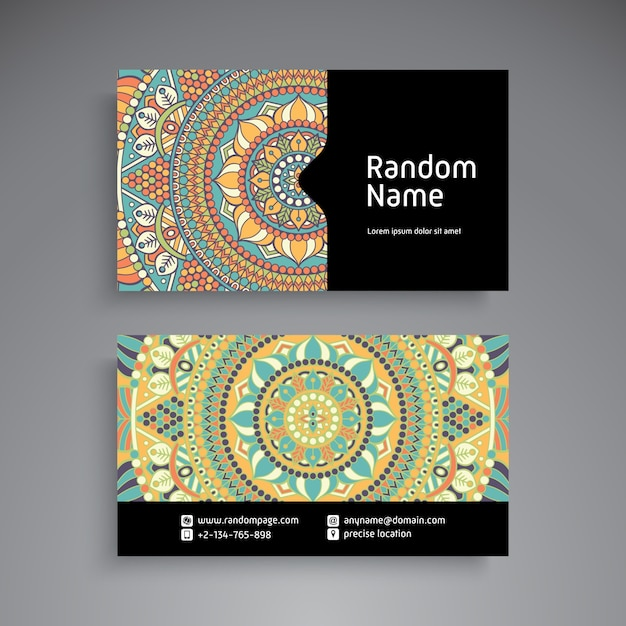 Business card vintage decorative elements ornamental floral business card vintage decorative elements ornamental floral business cards or invitation with mandala premium reheart Gallery