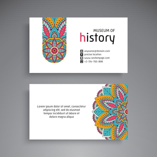 Business Card. Vintage Decorative Elements. Ornamental