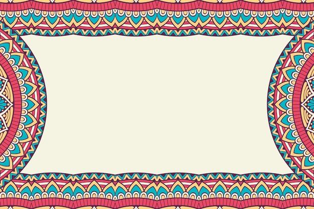 Визитная карточка. винтажные декоративные элементы. декоративные цветочные визитки, восточный узор, иллюстрация Бесплатные векторы