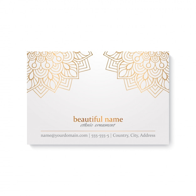 Business card. vintage decorative elements Free Vector
