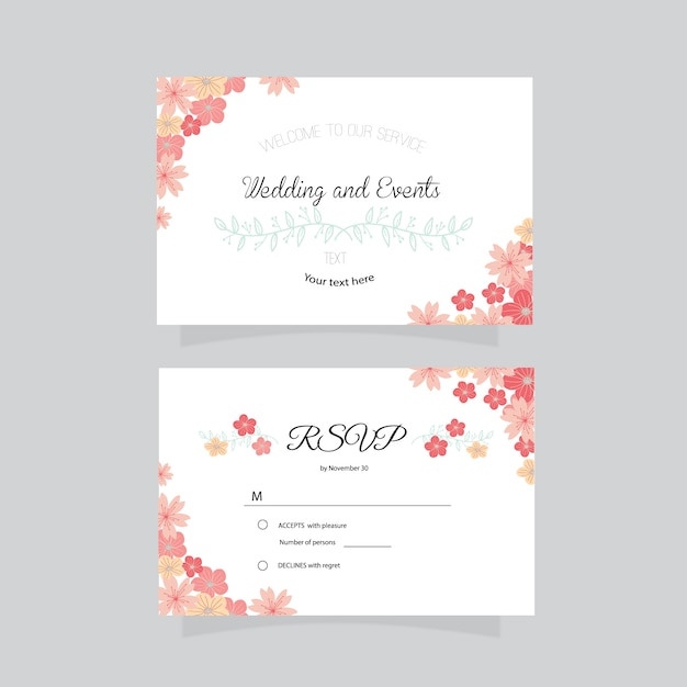 Business card wedding design vector free download business card wedding design free vector reheart Choice Image