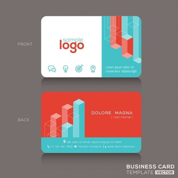 Business card with 3d geometric shapes vector free download business card with 3d geometric shapes free vector accmission Image collections