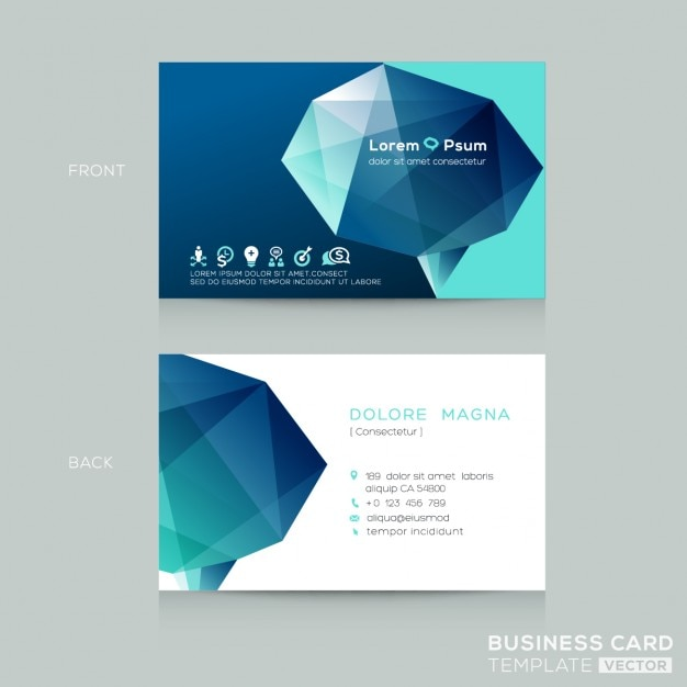Business card with a 3d polygonal shape vector free download business card with a 3d polygonal shape free vector accmission Image collections