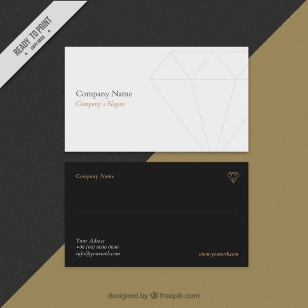 Business card with a diamond vector free download business card with a diamond free vector colourmoves