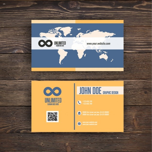 Business card with a map vector free download business card with a map free vector colourmoves