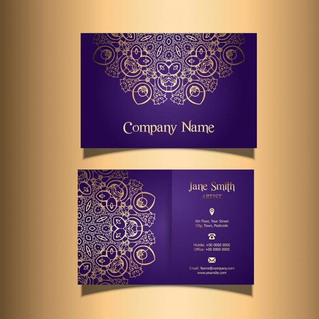 Business card with a stylish design vector free download business card with a stylish design free vector reheart Gallery