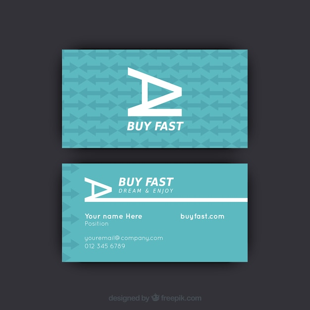 Business card with arrow pattern vector free download business card with arrow pattern free vector reheart Choice Image