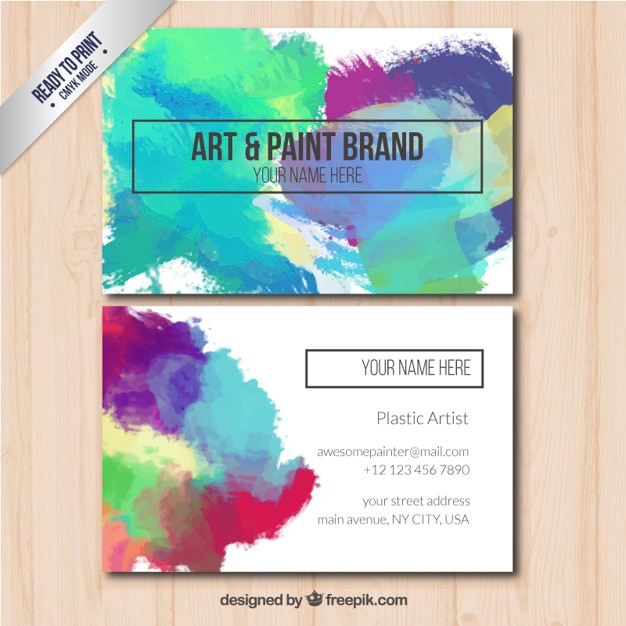 Business card with art and paint brand vector free download business card with art and paint brand free vector colourmoves