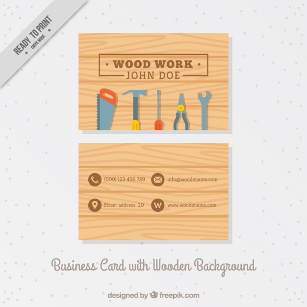 Business card with carpentry tools vector free download business card with carpentry tools free vector colourmoves