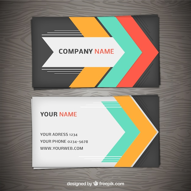 Business card with colorful arrows vector premium download business card with colorful arrows premium vector reheart Gallery