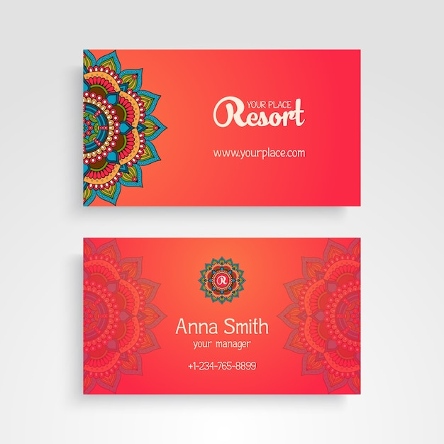 Free business cards elements images card design and card template business card with decorative mandala elements vector free download business card with decorative mandala elements free reheart Gallery