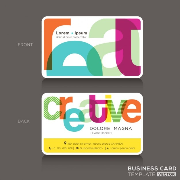 Business card with funny typography vector free download business card with funny typography free vector accmission Choice Image