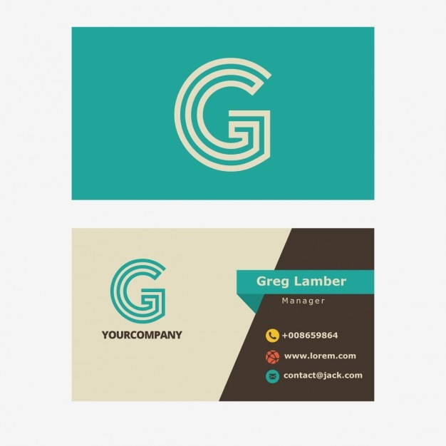 Business card with g letter vector free download business card with g letter free vector spiritdancerdesigns Choice Image