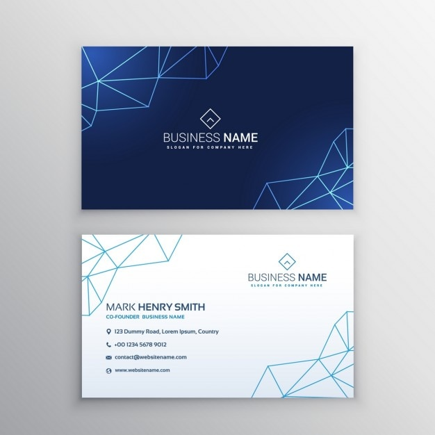 Business card with geometric lines vector free download business card with geometric lines free vector colourmoves