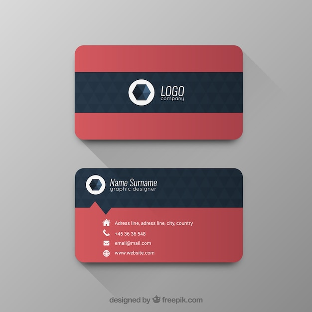 Custom Card Template buisness cards : Business card with geometric pattern Vector : Free Download