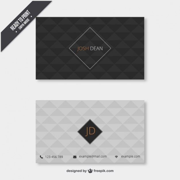 Business card with geometrical pattern vector free download business card with geometrical pattern free vector colourmoves
