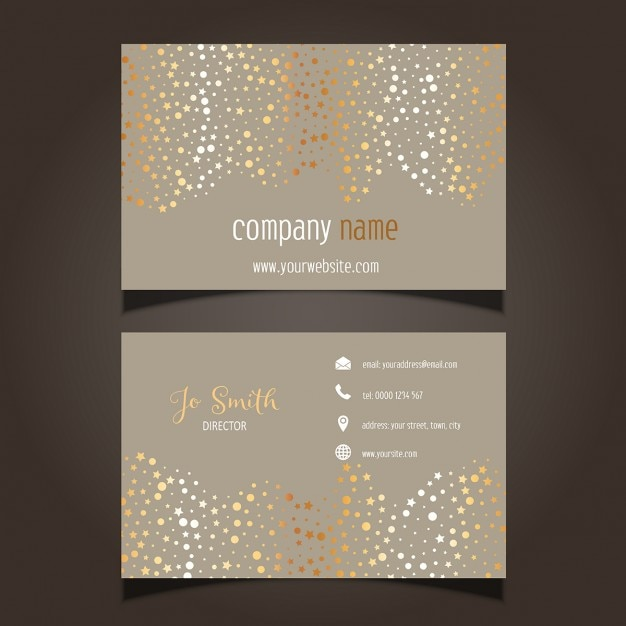 Gold stars letterpress holiday cards written in the stars card business card with gold stars free vector cheaphphosting