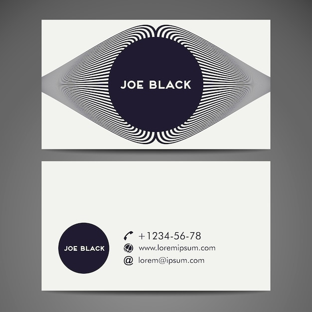 Business card with lines design