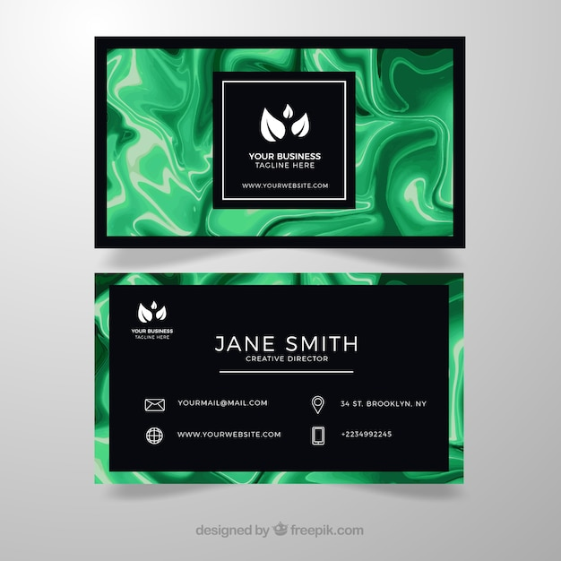 Business card with marble texture vector free download business card with marble texture free vector reheart Gallery