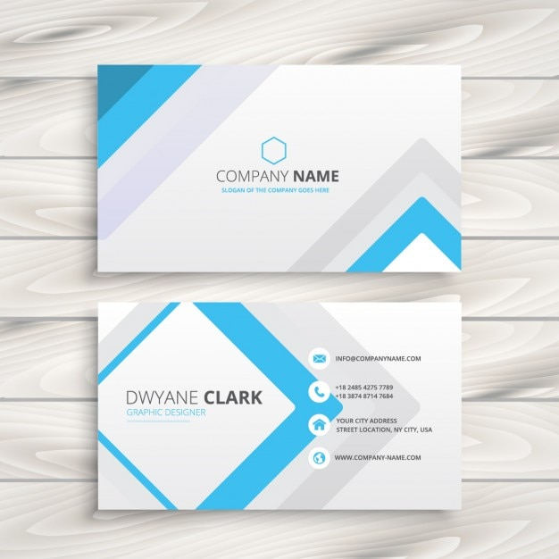 business card with minimal design vector free download