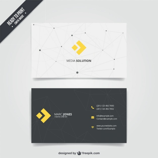 Business card with modern design Free Vector