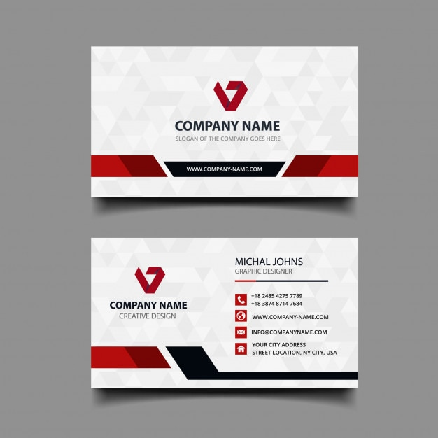 Business card with modern design Premium Vector