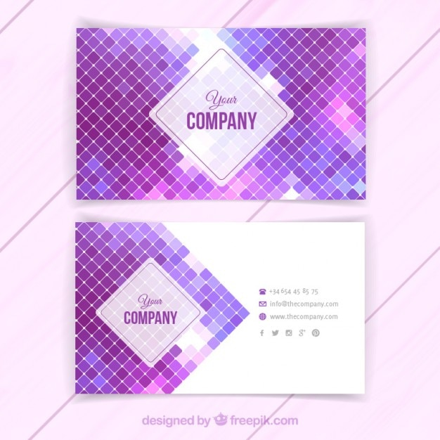 Business card with purple squares vector free download business card with purple squares free vector colourmoves