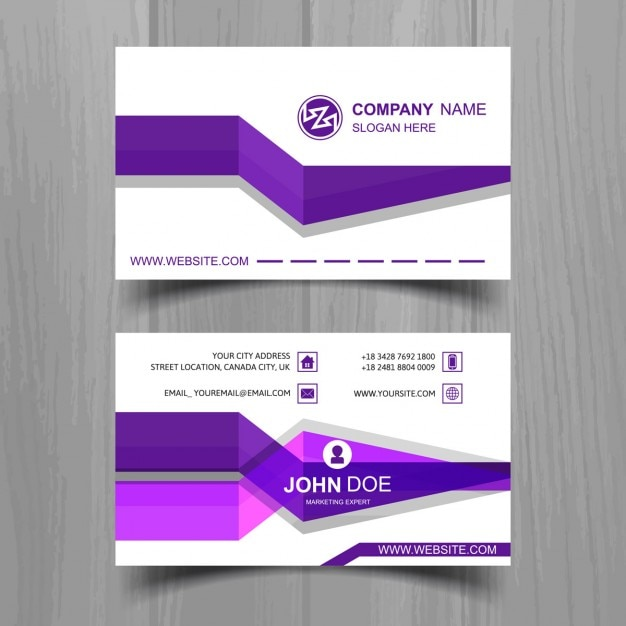 Business card with purple stripes vector free download for Purple business cards