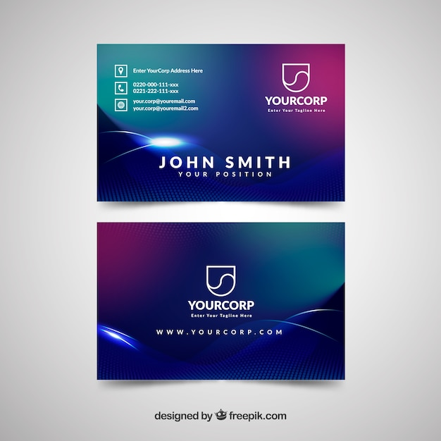 Business card with space style vector free download business card with space style free vector colourmoves Image collections