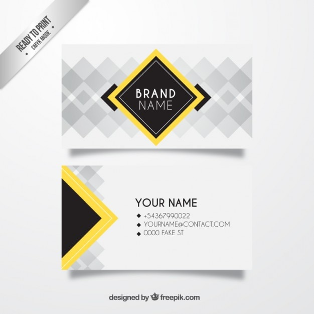 Download Vector Free Squares Business Card With