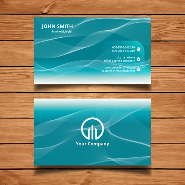 Business card with water waves vector free download business card with water waves free vector reheart Choice Image