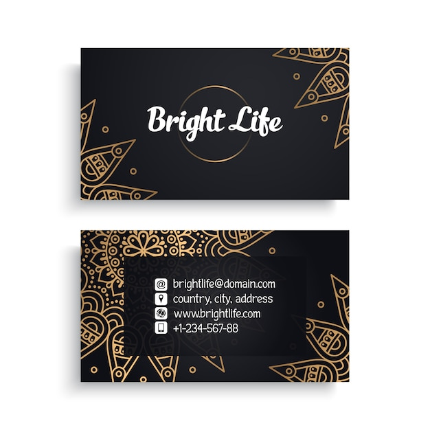 Business card. Free Vector