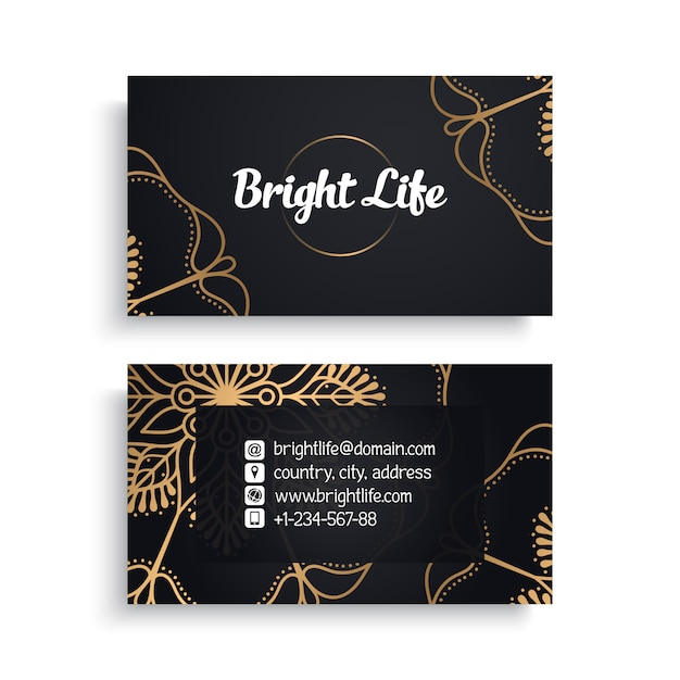 Business card Free Vector