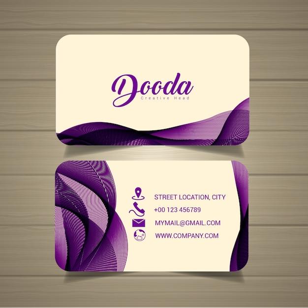 Business card Premium Vector