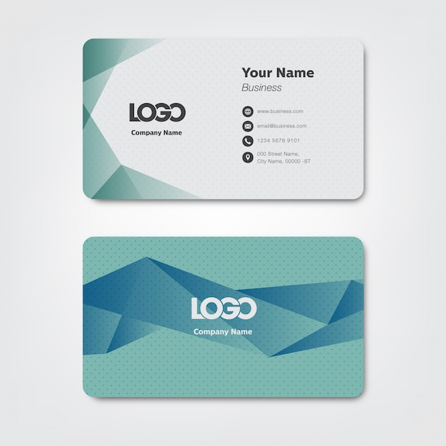 Business card Premium Vector
