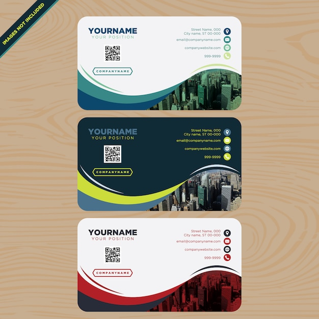 Business cards collection Free Vector