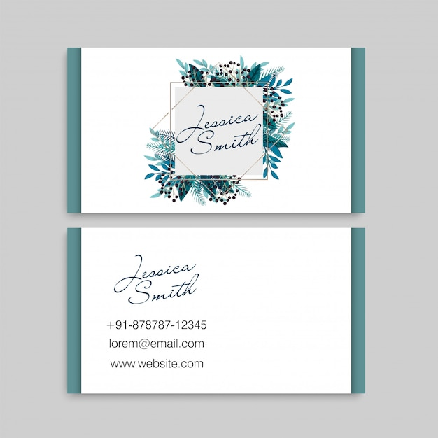 Business cards template berries Free Vector