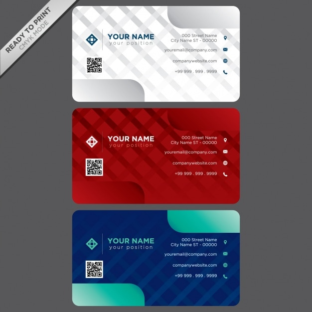 Business cards template design Vector : Free Download