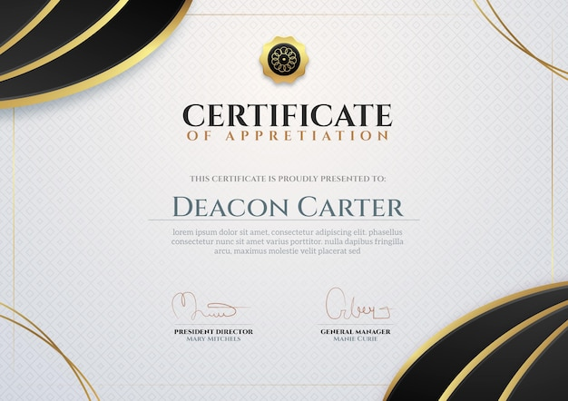 Business certificate template Free Vector