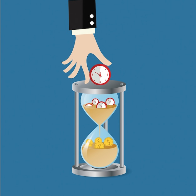 Business change  time to  money.work management Premium Vector