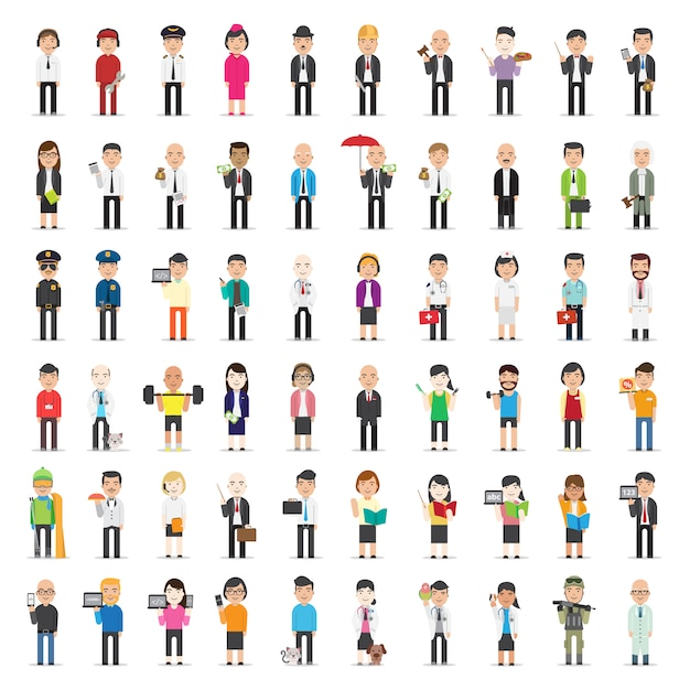 Business character collection Premium Vector