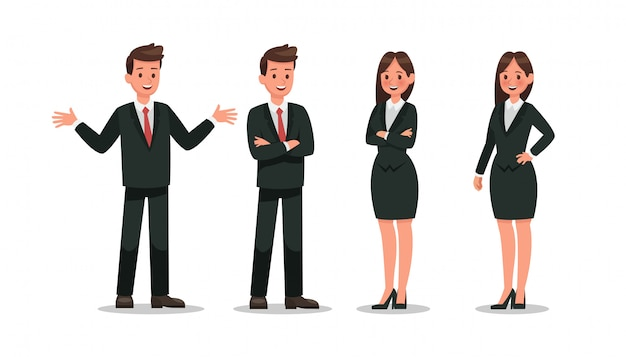 Business character Premium Vector
