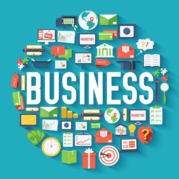 ビジネスサークルのインフォグラフィックテンプレートの概念 Premiumベクター