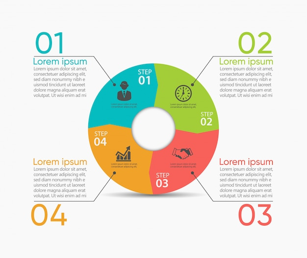 Business circle. timeline infographic icons designed for abstract  template Premium Vector