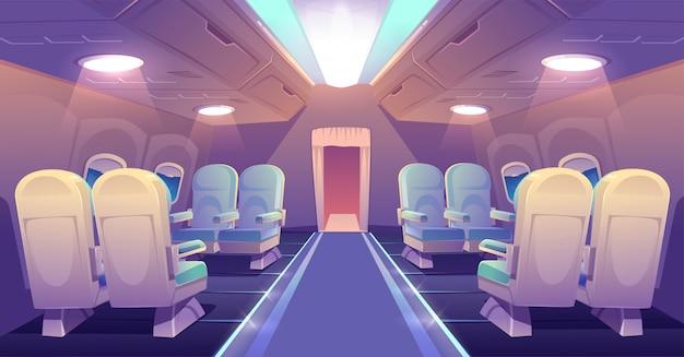 飛行機プライベートジェット空インテリアのビジネスクラス 無料ベクター