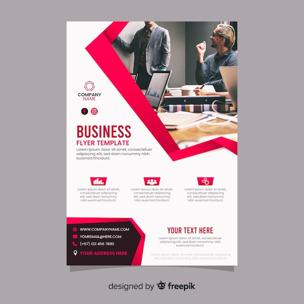 Business co-workers on a meeting abstract template Premium Vector