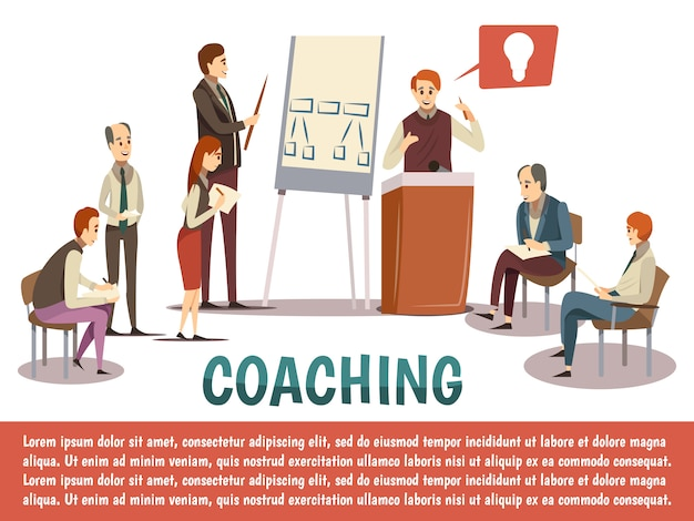 Business coaching background Free Vector